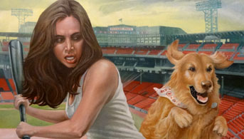 Click to view Faith at Fenway Park Oil Painting