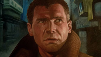 Click to view Deckard Blade Runner Oil Painting