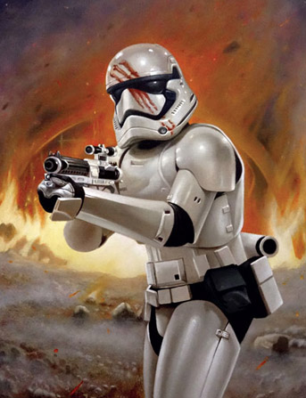 Click to view Finn - First Order Stormtrooper Oil Painting
