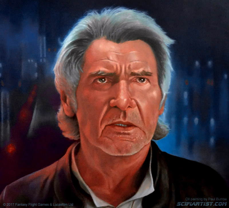 Resolve - Han Solo oil painting by Paul Burrow