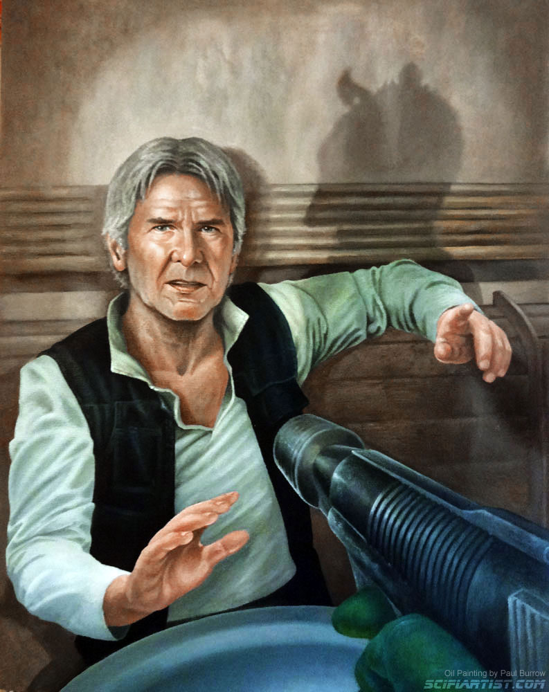 Han Solo oil painting by Paul Burrow