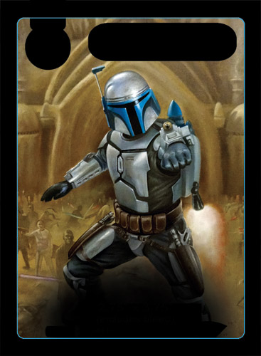 Jango Fett alternate art promo card - oil painting by Paul Burrow - Star Wars Destiny ©FFG