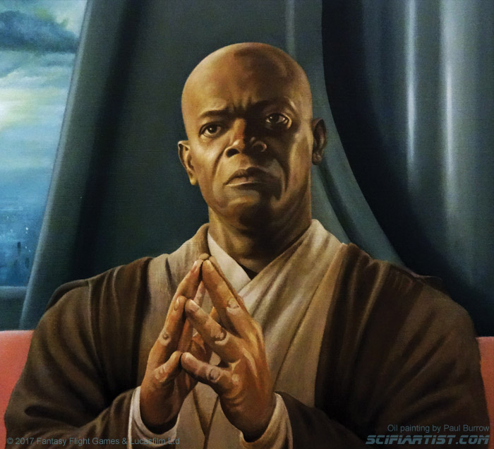 Master of the Council - Mace Windu oil painting by Paul Burrow