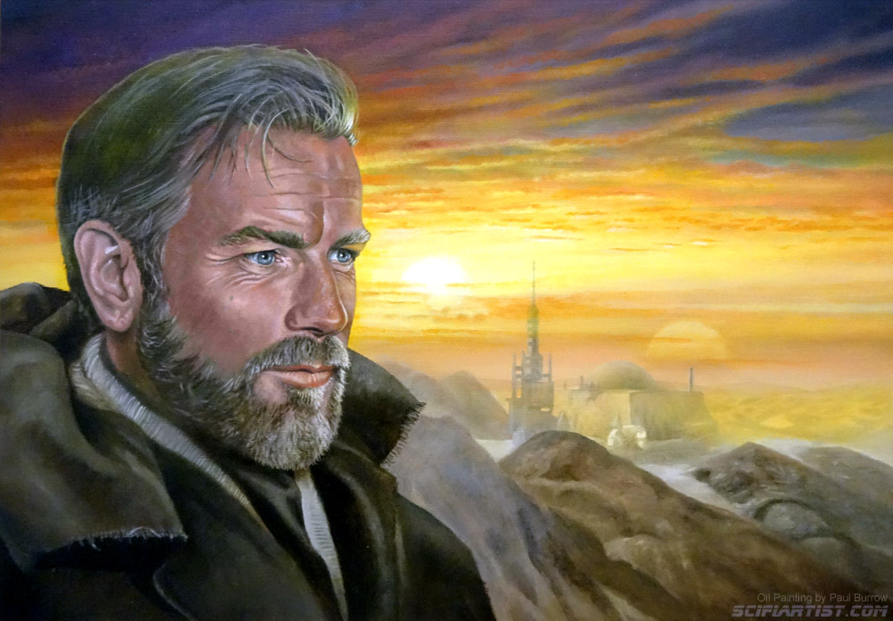 Obi-Wan Kenobi oil painting by Paul Burrow