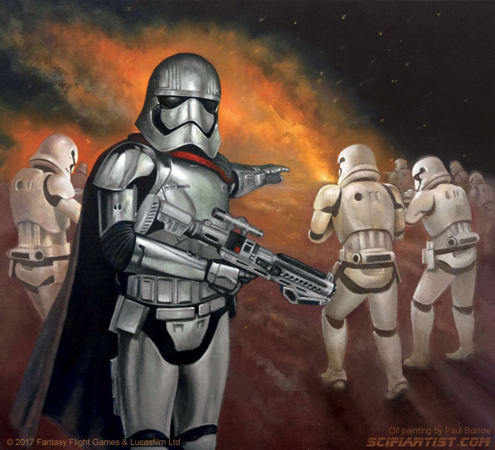 New Orders - Captain Phasma oil painting by Paul Burrow