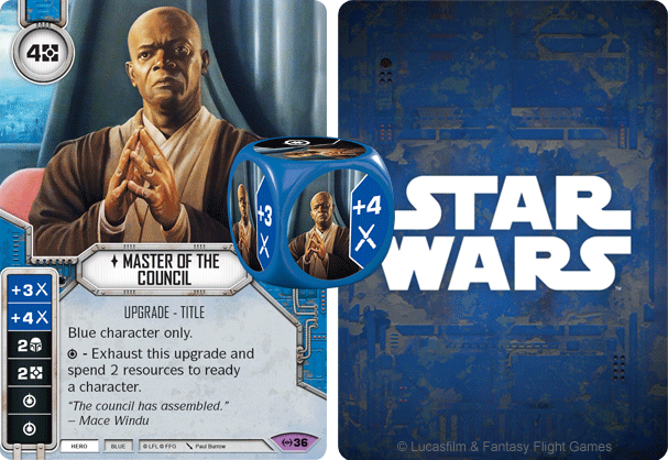 Master of the Council - Mace Windu oil painting by Paul Burrow - Star Wars Destiny - Empire at War ©FFG