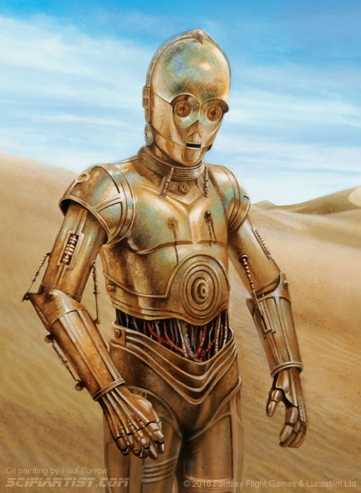 C-3PO - Made to suffer oil painting by Paul Burrow