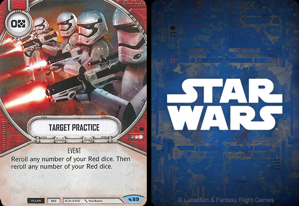 Target practice artwork by Paul Burrow - Star Wars Destiny - Way of the force ©FFG