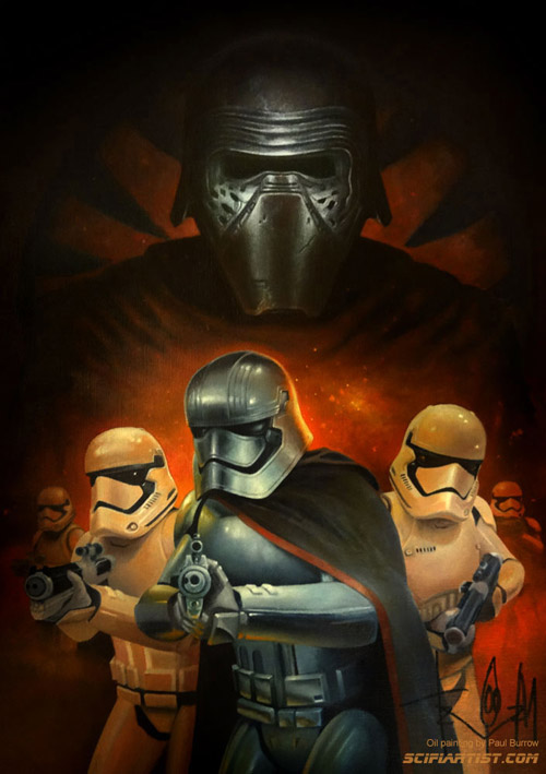 The Force Awakens First Order oil painting by Paul Burrow