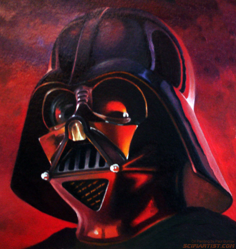 Darth Vader Oil Painting by Paul Burrow
