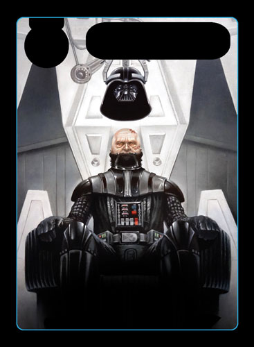 Darth Vader - Isolation alternate art promo card - oil painting by Paul Burrow - Star Wars Destiny ©FFG