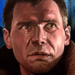 Deckard - Blade Runner Oil Painting