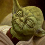 Yoda - Echoes of the Force Oil Painting